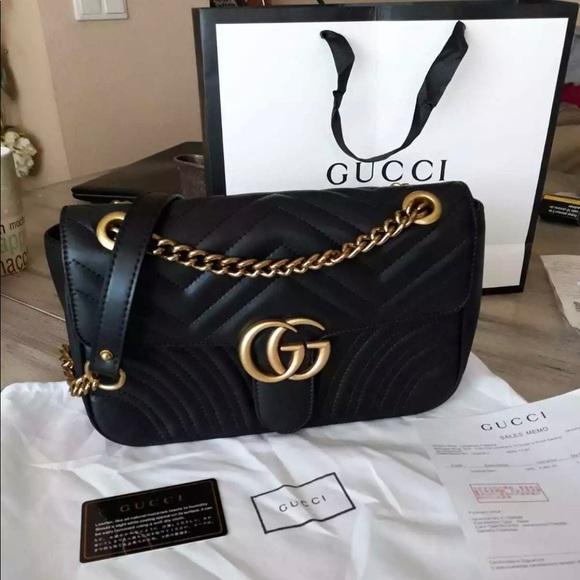 6da1a72ed3c0 Gucci Bags | Gg Marmont Small Black | Poshmark